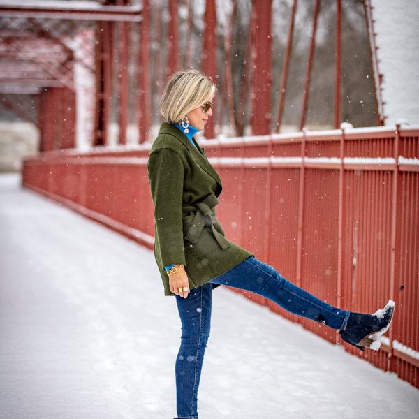 Jcrew wrap coat for an easy winter look