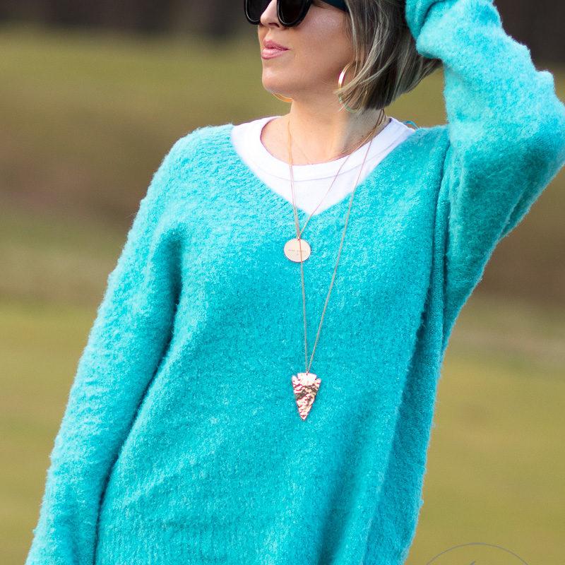 cozy v-neck anthropologie sweater + my weekend sale picks